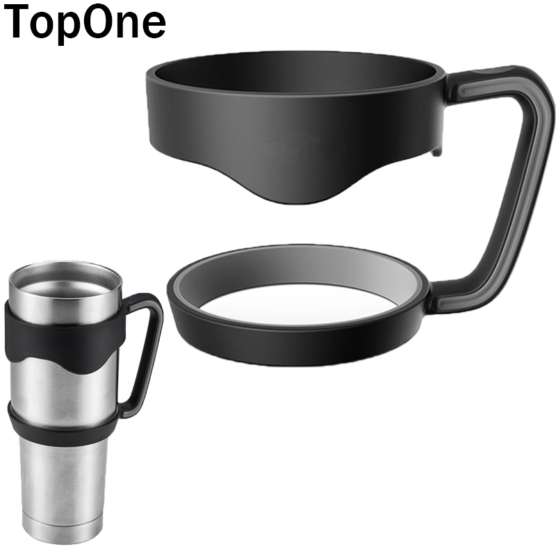 TopOne 1pcs Black Anti-Slip Seamless Handle for <font><b>YETI</b></font> Tumbler 30 OZ Car Plastic Handle for <font><b>yeti</b></font> <font><b>Cups</b></font> <font><b>New</b></font> Year Decoration