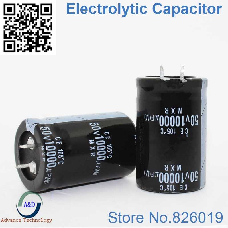 1pcs lot 50V 10000UF Radial DIP Aluminum Electrolytic Capacitors size 30 40 10000UF 50V