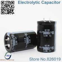 1 шт./лот 50 В 10000 мкФ радиальный DIP Алюминий электролитический Конденсаторы размер 30*40 10000 мкФ 50 В