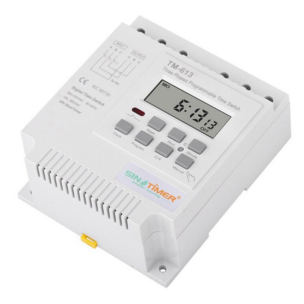 1PC 380V Timer Switch Microcomputer Control Switch Water Pump Timer Switch Programmable Timer J3 timer at11dn