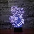 Fahion Pequeno 3D CONDUZIU A Lâmpada A Lâmpada Ao Lado da Rainha da Neve Elsa e Anna Dos Desenhos Animados Luz Da Noite de Presente de Aniversário para a Menina Colorido Gradiente