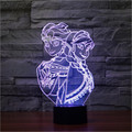 Fahion Small 3D LED Lamp The Snow Queen Beside Lamp Elsa and Anna Cartoon Birthday Gift Night Light for Girl Colorful Gradient