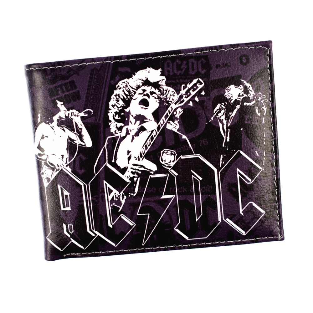 Free Shipping Europe and America Hot Rock Band Music Wallets METALLICA AC/DC Guns N' Roses Rolling Stone Wallet for Young climate men women cool rock music trucker mesh caps guns n roses cap women men g n r gnr fans cap rock music band fans cap hat