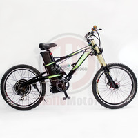 Super Mountain E Bike 48V 1000W Electric Bicycle With 48V 18Ah Lithium Ion Bottom Discharge