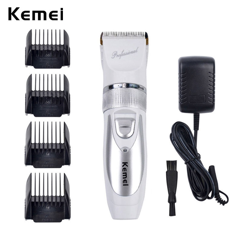 Kemei Electric Shaver Hair Clipper Trimmer Professional Ceramic Cutter Men Baby Titanium Steel Blade Rechargeable Shaver Machine kemei barber professional rechargeable hair clipper hair trimmer men electric cutter shaver hair cutting machine haircut