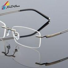 16aded4a76 2017 XINZE Nuevos anteojos gafas Sin Montura de Gafas de titanio de memoria  de los hombres flexibles spectacle prescription marc.
