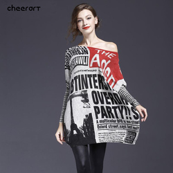 High quality women autumn winter knitted print loose plus size font b oversized b font sweaters.jpg 250x250