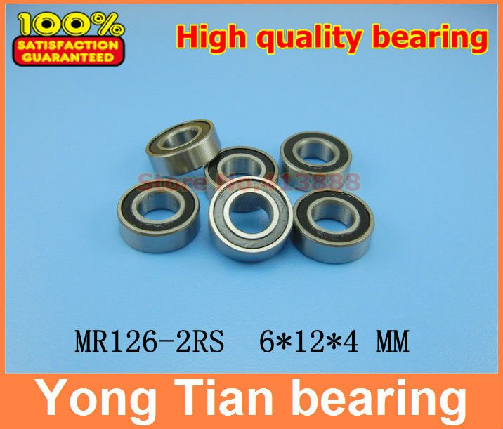 (1pcs) High quality double rubber sealing cover miniature deep groove ball bearing MR126-2RS 6*12*4 mm 4pcs free shipping double rubber sealing cover deep groove ball bearing 6206 2rs 30 62 16 mm