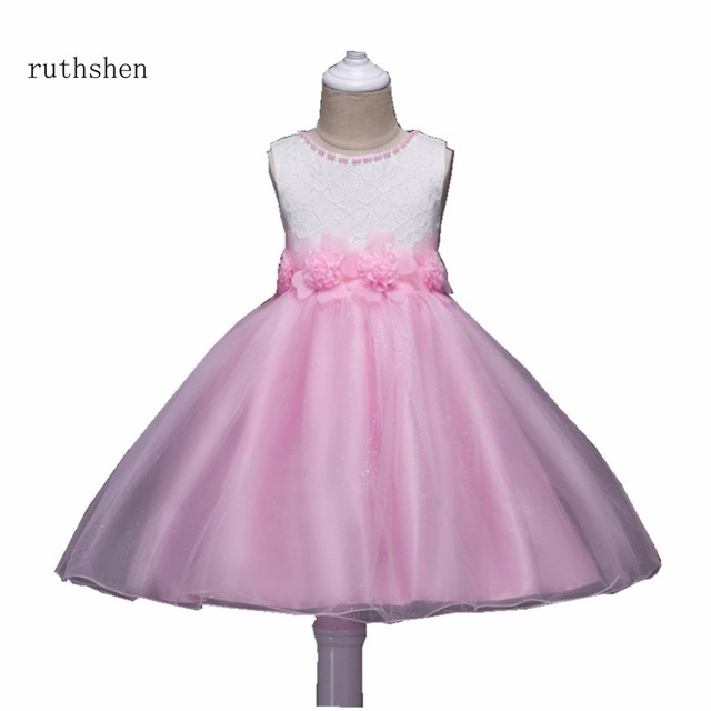 fe703cf57 ruthshen 2018 In Stock Stunning A line O Neck Flowers Girls With Big ...