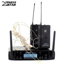 GLXD10 GLXD4 600-650 МГц УВЧ беспроводной микрофон профессиональная система караоке 2 гарнитура головной микрофон 2 канала беспроводной приемник