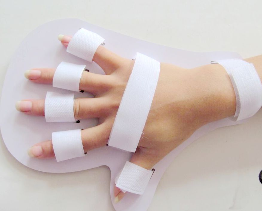 Hand Finger Separating Plate Therapy Rehabilitation Stroke Hemiplegia and Cerebral Palsy or Infarction Spasm Deformity Orthotics upper lower limbs physiotherapy rehabilitation exercise therapy bike for serious hemiplegia apoplexy stroke patient lying in bed