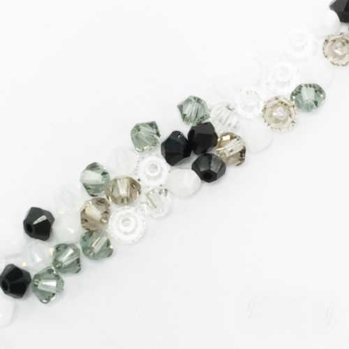 STENYA 4mm מערבבים צבע קריסטל חרוזים פלצור שרשרת ואגלי Bicone פיאות אבן תכשיטי עגילי זכוכית Spacer קסמי אבזרים