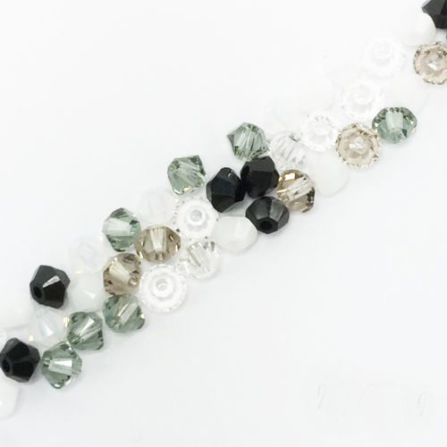 STENYA 4mm Mix Color Crystal Beads Lariat Necklace Beading Bicone Faceted Stone Jewelry Earrings Glass Spacer Charms Accessories
