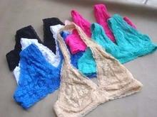 ultra-thin underwear sexy lace triangle bra halter-neck bralette wireless bra