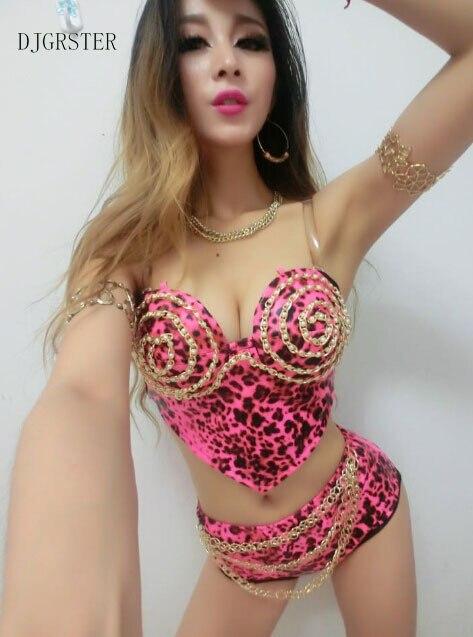 Trajes de Baile Hip Hop Mujeres Sexy Cantante de Baile de Disfraces Del Club nueva DS Danza Trajes de la Etapa Para Cantantes ladys sujetador y pantalones cortos traje