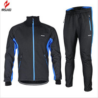 Winter Thermal Cycling Clothes Racing Wear Warm Up Thermal Windproof Waterproof Cycling Bike Bicycle Jacket Pant