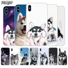 Cute Husky Fundas Silicone Phone Back Case For Apple iPhone 6 6S 7 8 Plus X 10 XS MAX XR 5 5S SE Heart Cover Capa терафлю пор д р ра внутр лесные ягоды n10