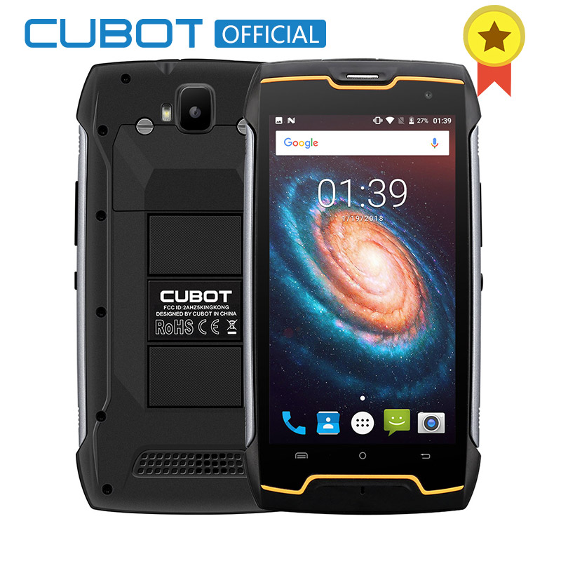 Cubot KingKong 4400 мАч IP68 Водонепроницаемый пыле противоударный mt6580 четыре ядра 5,0 Android 7,0 Сотовая связь 2G RAM 16G ROM смартфон