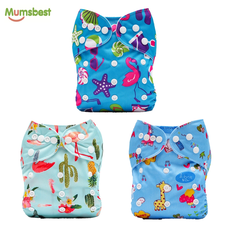 [Mumsbest] 3pcs/Pack New Prints Baby Cloth Diapers Reusable Washable Pocket Diapers Baby Nappies Wholesale Custom Label Diaper hanes little boys 5 pack red label prints boxer brief