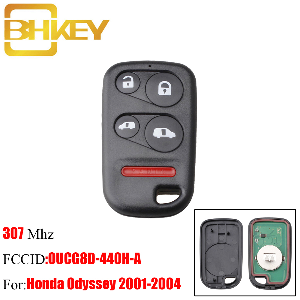 BHKEY 5Buttons Remote Key Fob For Honda OUCG8D 440H A
