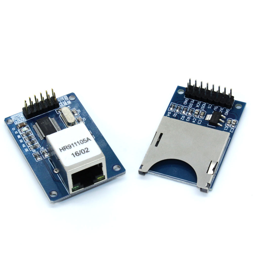 US $4 5 |ENC28J60 Ethernet LAN Network Module Schematic For Arduino 51 AVR  LPC+SD Card Module Slot Socket Reader For Arduino ARM MCU-in Replacement