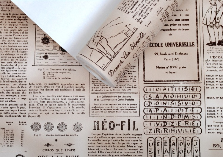 Tapete Zeitung Retro Nostalgisch Englisch Alphabet Nicht Gewebt für Untersuchung
