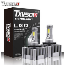 TXVSO8 2PCS led D1S/D3S Fog Light Bulbs Kits-Flip COB Chips-55W 26000LM pure White 6000K Auto H7 Led Headlight Bulb H4 headlamp