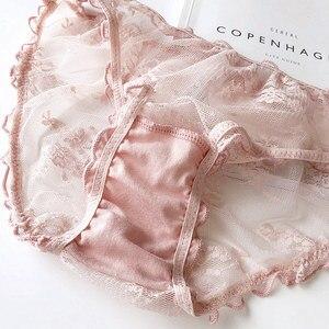 Image 5 - Wriufred Bralette חוט משלוח תחתוני נשים חזיית סטים משולש כוס סקסי תחרה דק Comfort רך כוס בתוספת גודל הלבשה תחתונה סט
