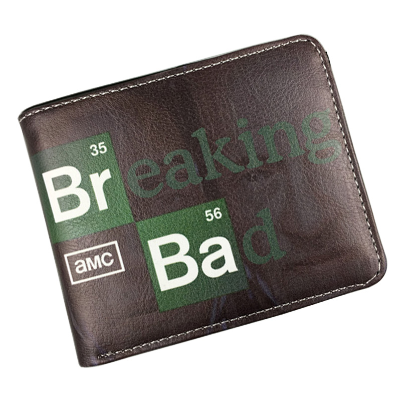 Bioworld Anime Breaking Bad Wallets Gift for Boy Girl Teenager Zipper Coin Pocket Purse Leather Card Holder Bags Dollar Wallet anime cartoon wallets bifold game pokemon go pikachu wallet for teenager women men pocket monster purse coin purses holders