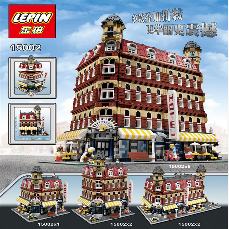 2133Pcs LEPIN 15002 Creators Cafe Corner Model Building Kits 10182 Blocks Kid Brick Toy Gift Compatible With lego lepin 16014 1230pcs space shuttle expedition model building kits set blocks bricks compatible with lego gift kid children toy