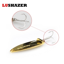 LUSHAZER fishing bait 15g 20g 25g carp fishing wobbler spoon lure metal baits isca artificial hard lures China spinnerbait