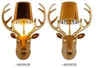Lamps American Personality Deer Head Wall Lamp Creative Living Room Bedroom Wall Villa Antlers Hotel KTV