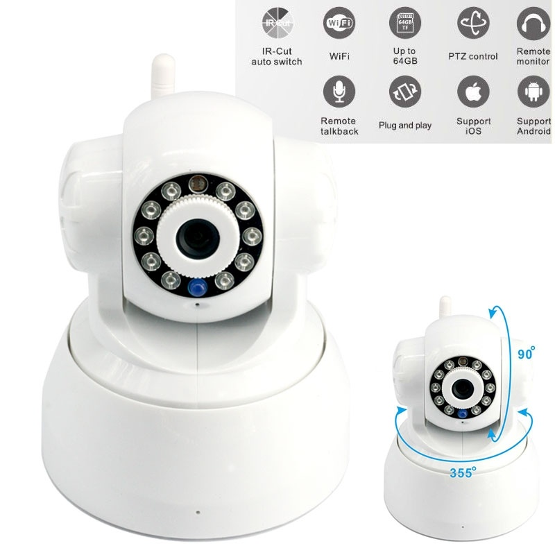 4GB Card+ip wifi wireless Camera  Home Security Indoor Phone Real-time View 720P baby/pet monitor4GB Card+ip wifi wireless Camera  Home Security Indoor Phone Real-time View 720P baby/pet monitor