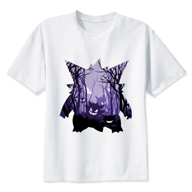 Gengar T-Shirts Men Personalized Custom Tee 2017 Summer Short Sleeve  Fitness T shirt MR1365