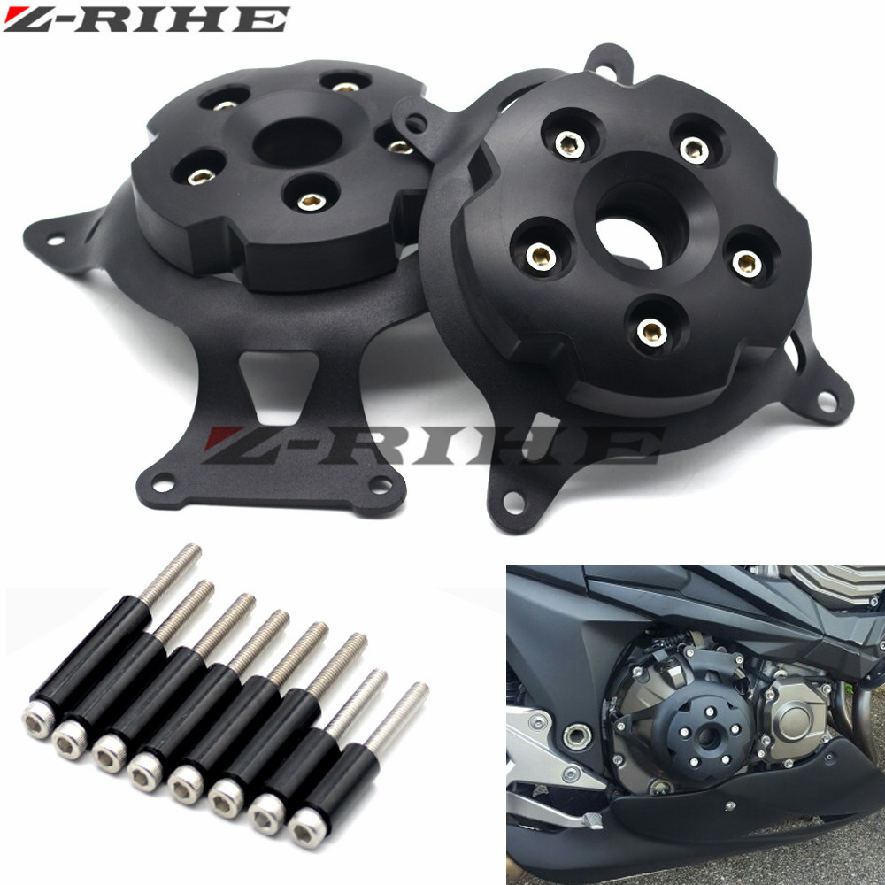 For KAWASAKI Z800 2013 2014-2016 z750 2008-16 Motorcycle Engine Stator Cover Engine Protective Cover Left & Right Side Protector motorcycle cnc aluminum engine crankcase slider engine cover saver protection side shield for kawasaki z800 z750 2013 2016