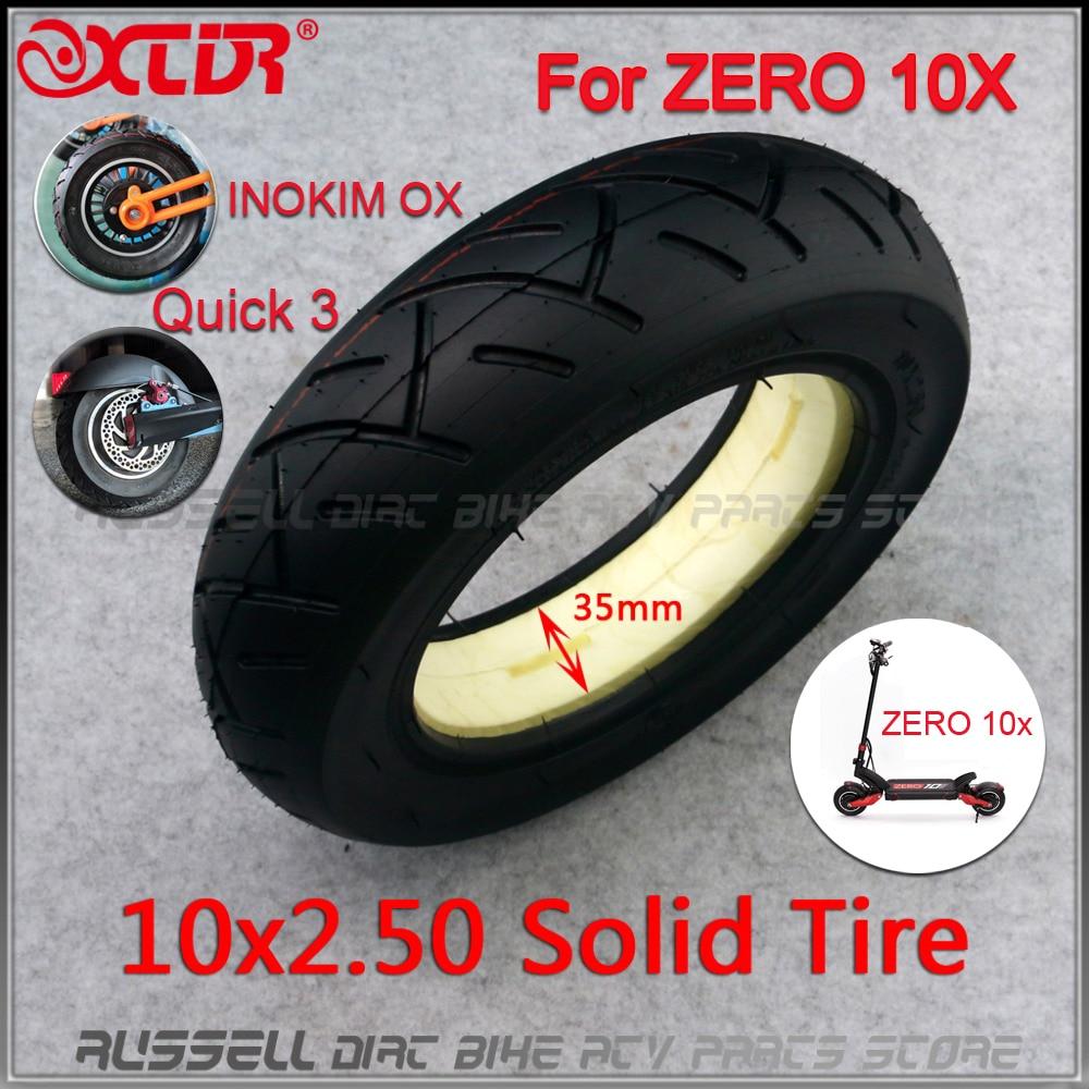 10x2.50 sólido pneu sem câmara para rápida 3 zero 10x inokim ox dobrável scooter elétrico 10 polegadas mini motorrad navalha