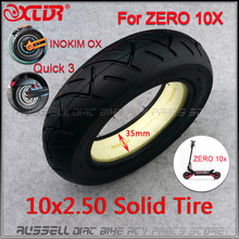 10x2.50 solid tire tubeless for Quick 3 ZERO 10X Inokim OX Folding Electric Scooter 10-inch Mini Motorrad Razor