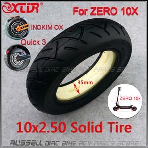 Image 1 - 10x2.50 solid tire tubeless for Quick 3 ZERO 10X Inokim OX Folding Electric Scooter 10 inch Mini Motorrad Razor