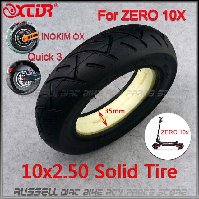 10x2.50 solid tire tubeless for Quick 3 ZERO 10X Inokim OX Folding Electric Scooter 10 inch Mini Motorrad Razor