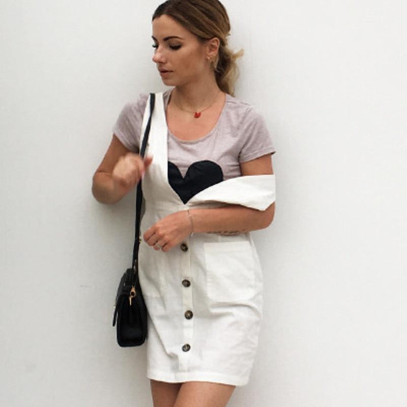 Women V-neck Overall Beach Dress  Plus Size XXL Sleeveless Short Overalls Empire Solid Color Mini Vestidos