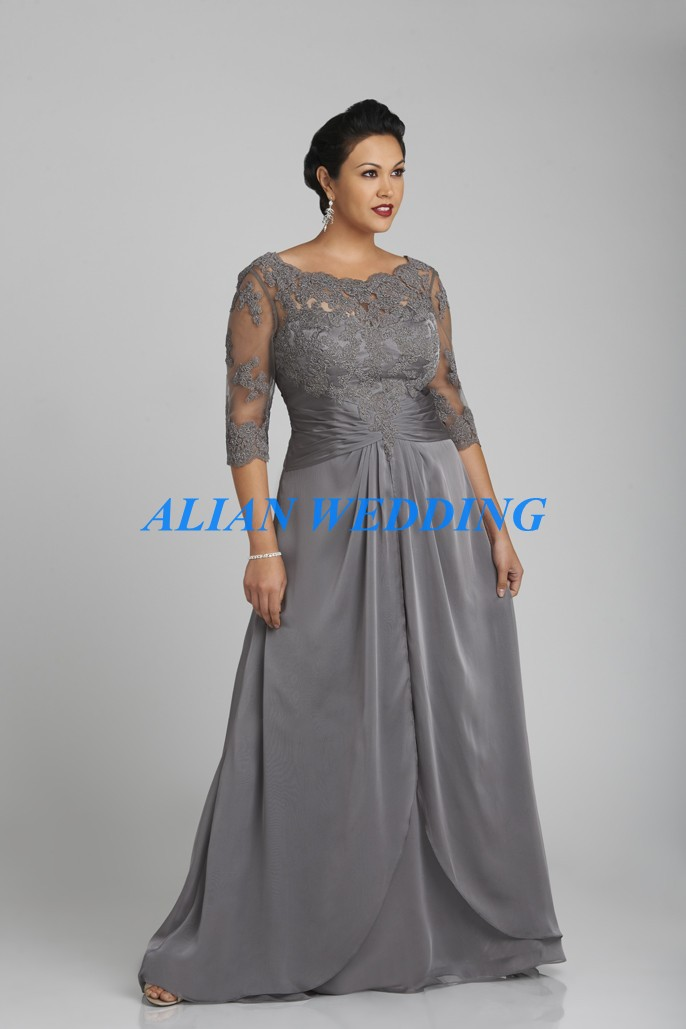 Plus Size Mother of the Bride Dresses with High Neck