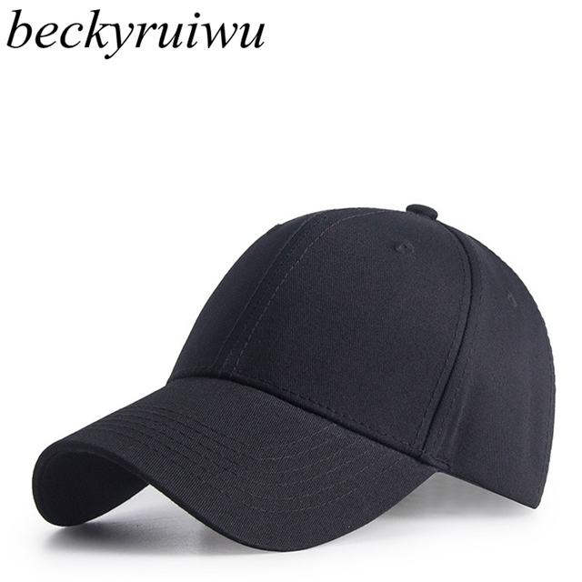 c6ccf26853a Men Big Head Sun Hats Pure Cotton Golf Hat Adult Good Quality Peaked Cap  Men Logo