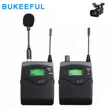 Wireless Interview Microphone DV Camera External Radio Pickup Lape Wireless DSLR Camera Microphone for ENG Outdoor Recording(China)