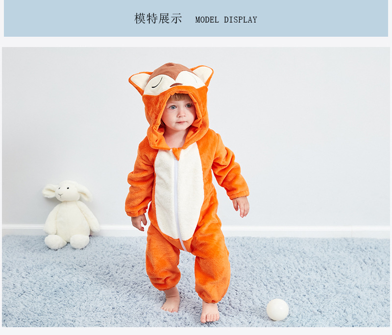 HTB14j4sRVzqK1RjSZFoq6zfcXXa3 Baby rompers new born baby girls clothes Hooded pajamas mameluco bebe warm winter animal costumes roupas de bebe dropshipping