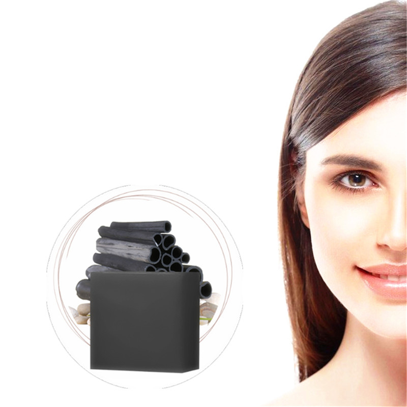 Face Cleaning Bamboo Charcoal Handmade Soap Massage Lifting Firming Bathing Chinese Herbal Medicine Blackhead Cleaning Soaps