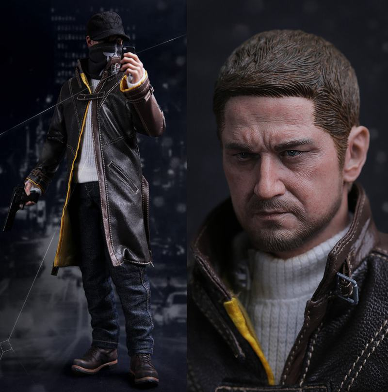 """1/6 scale figure doll NIGHTMARE STALKER game Watch Dogs Aiden Pearce  Collectible model plastic toys 12"""" action figure doll-in Action & Toy  Figures from Toys ..."""