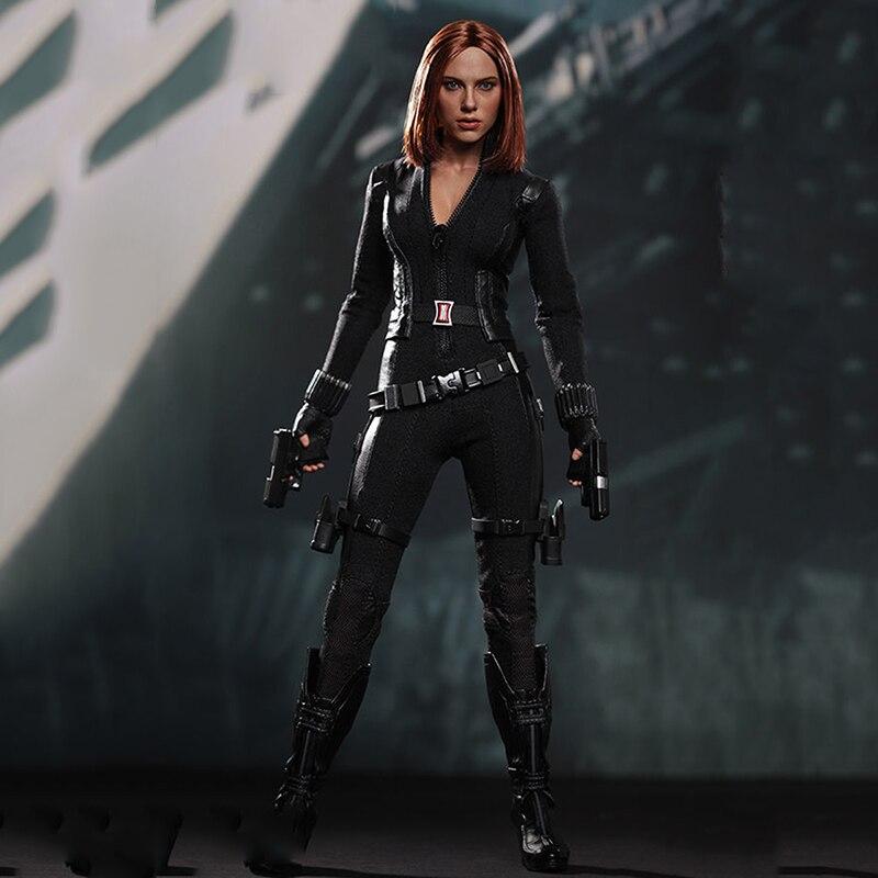 MMS239 1/6 Scale Captain America Winter Soldier Black Widow Figure Models Full Set Figures 1 6 atx022 civil war captain america winter soldier bucky figure and clothing set