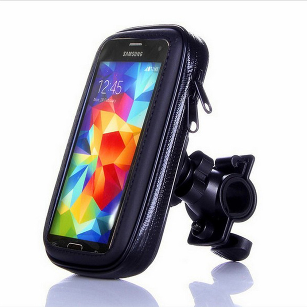 Image 3 - Bicycle Motorcycle Phone Holder telephone Support For Moto Stand Bag For Iphone X 8 Plus SE S9 GPS Bike Holder Waterproof Cover-in Side Mirrors & Accessories from Automobiles & Motorcycles