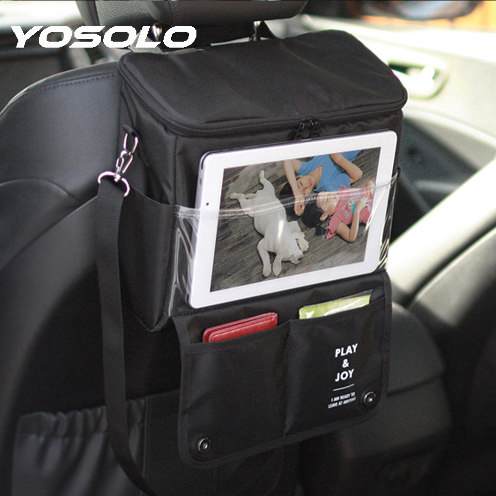 YOSOLO Car Seat Back <font><b>Organizer</b></font> Storage Bag Portable Stowing Tidying Car-styling <font><b>Multi-function</b></font> Cold Insulation <font><b>Auto</b></font> <font><b>Organizers</b></font>