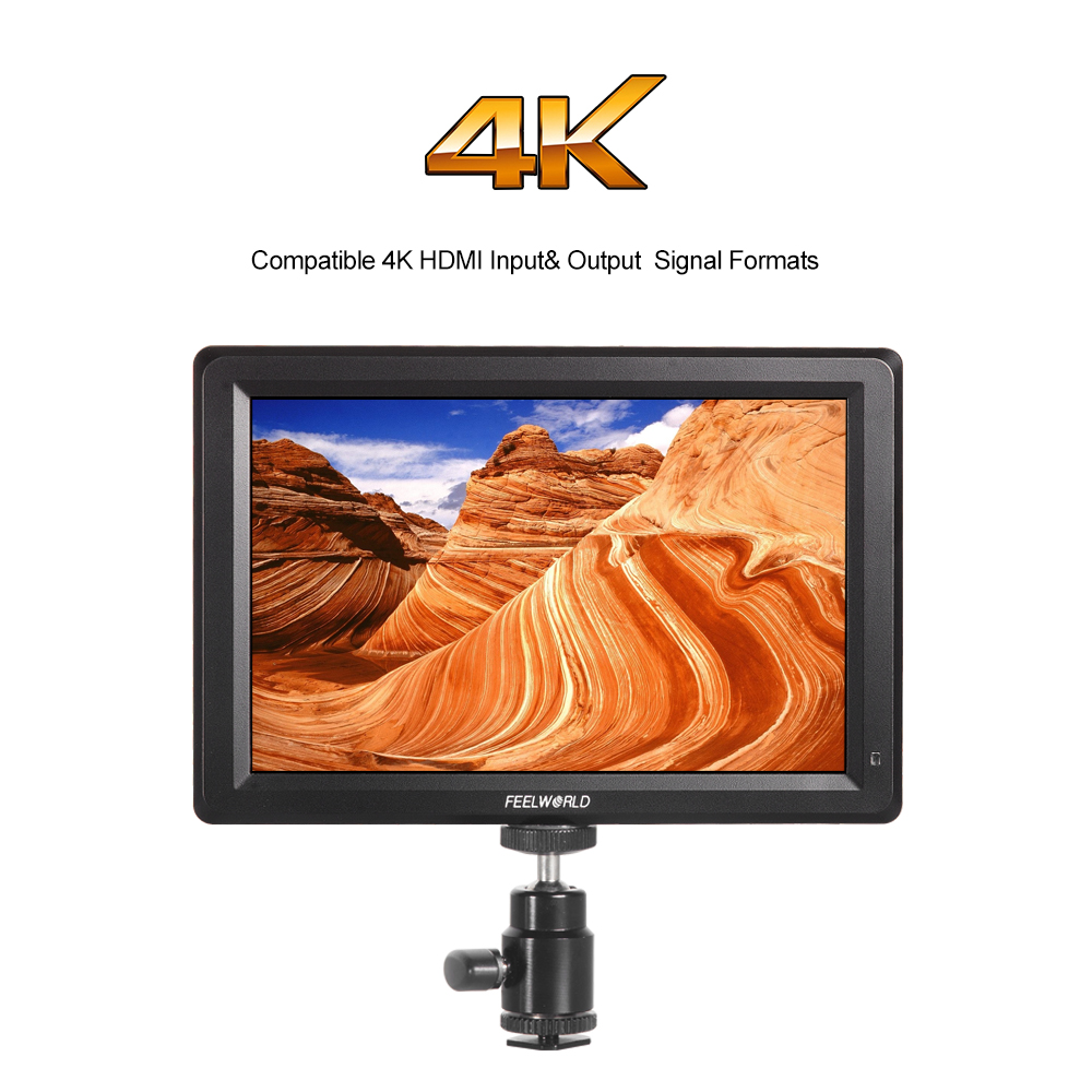 Feelworld F7 7 Inch On-Camera Field Monitor With Full HD IPS Screen HDMI 4K UHD Input and Output for Canon Nikon DSLR Camera